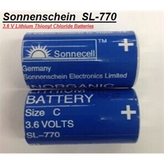 SL-770 - BATERIA 3,6V SIZE C, 8,5Ah,Batteries Lithium Tadiran SL-770 / SL-2770, Non-Rechargeable - BACKUP CPU ROBOT,PLC,CNC & MACHINE - Sonnenschein SL-770 (Size C) Lithium battery 3.6V.