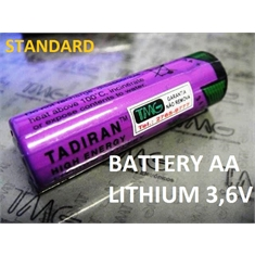 TL-5104 - BATERIA 3,6V Lithium 2,1Ah SIZE AA, Tadiran - TL5104 BATTERY LITHIUM 3.6 V, 2.1Ah Non-Rechargeable PLC/CNC - TL-5104, SIZE AA - Terminal Axial