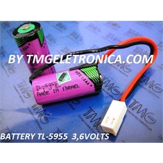 TL-5955 - BATERIA Lithium 3,6V SIZE 2/3AA  1,5Ah,Tadiran TL5955 2/3AA STD 3.6V Lithium Thionyl Chloride Battery Non-Rechargeable - TL-5955 - TADIRAN 3,6V LITHIUM / STANDARD