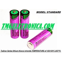 Bateria Lithium 3,6V - Alta Temperatura Lithium Thionyl Chloride 3.6V Battery Size AA, High Temperature 55°C Á 130°C/ 266 °F - Battery NOT Rechargeable - Batt Tadiran Size AA - High Temperature - 55°C~125°C/ (257*F) STANDARD