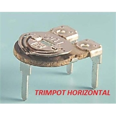 Trimpot 10Mm Horizontal, Mini Trimpot Potenciometro de Carvão Ø 10 - Variable Trimmer Potentiometer Horizontal 3pinos - 100R até 10MEGA - MINI TRIMPOT 10MM HORIZONTAL - 1K