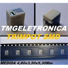 100R - Trimpot SMD TRIMMER 100 OHM 0.25W 11Turns SMD