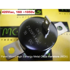420PA40C - VARISTOR MOV ,Panel Mount High Energy Z420PA40C - VARISTOR 130~1000 Max. Applied VAC //175~1350 Max. Applied VDC 6500 Amps, Metal Oxide Varistors (MOV) - Z420PA40C - VARISTOR 130~1000 Max. Applied VAC //175~1350 Max. Applied VDC