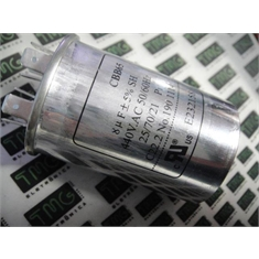 8UF - CAPACITOR DE PARTIDA 8MF,8µF 380 Á 450VAC Metallic Polypropylene Film Capacitors CBB65 TERM FASTON - CAPACITOR CBB65 - 8UF,8MF,8µF de 440/450V AC Metallic