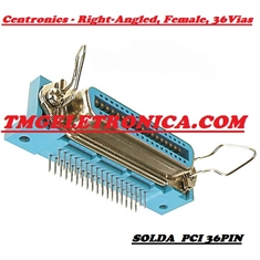 CONECTOR CENTRONICS 36PINOS MALE,FEMALE Solder,Angle º - CENTRONIC SOLDER CONNECTORS - MACHO OU FEMEA - CON.Centronics 36PIN/ Femea, Ang 90º