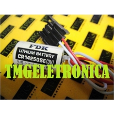 CR14250-SE 3V - Bateria 3Volts Lithium, CR14250SE Batteries SANYO / FDK 3V 850 mAh PLC,CNC,MACHINE - BACK UP Non-Rechargeable  Diversos modelos - CR14250SE 3V - Sanyo FDK/Japan 3Pinos p/soldar PCI