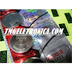 CR2032 - Bateria Lithium 3Volts, Tipo Moeda, Botão, CR2032 Battery 3.0V Lithium, Battery Coin, Button Cell Batteries, Coin Battery - CR2032 - 3volts / Fabric. 1ºLinha MAXELL