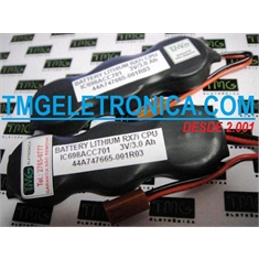 44A747665-001R03 - BATERIA GE Fanuc 3V, Battery IC698ACC701 3Volts 3000mAh, PLC, IHM, Machine Robotic Batteries Controller, GE Fanuc RX7i PLC Battery backup FANUC, RX7i CPU programming Genuine Parts - 44A747665-001R03 - Bateria 3Volts, Battery Parts Robot,PLC