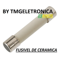 Fusível Cerâmico 5x20mm Com Retardo - Fuse, Cylinder, Time Delay/Slow Acting, Ceramic, 125/250Volts - Fusível Cerâmico 5x20mm 250V - 0,5Amper (500MA) C/ Retardo