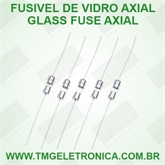 Fusível de Vidro Ø 5mm × 20mm - DE 0,1Amp (100Ma) até 10Amper 250Volts, Ação Rápida, Cartridge Fuses Glass Miniature, Micro Fusível Ø 5Mm x 20Mm Fast-Acting, Fast Blow, Amp Rating - Terminal Axial - 0,1Amper - Vidro AXIAL 5x20Mm