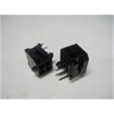CONECTOR MICRO FIT MACHO PLUG 4VIAS,Connector Micro-Fit 3.0 male plugs, 90º PCI - Conector microfit ,4vias macho p/ PCI 90º