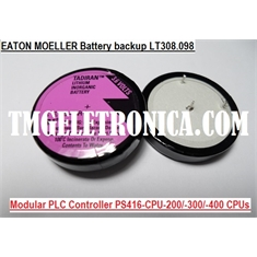 LT308.098 Eaton Moeller Back-up battery modular PLC Controller PS416-CPU-200/-300/-400 CPUs lithium battery, 3.6V  PLC/PLS - LT308.098 Eaton Moeller Back-up battery