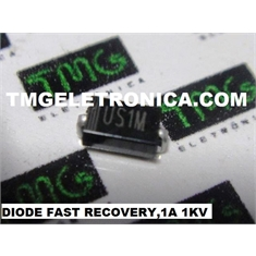 US1M - Diode Switching, FAST RECOVERY Repetitive Reverse, 1A, 1KV, DO-214AC - US1M - Diode Switching, FAST RECOVERY