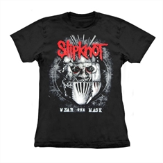 Baby look Slipknot - Wear the Mask - Tamanho G (54 x 43 cm.)