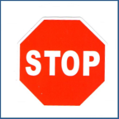 Adesivo Stop Sign