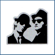 Adesivo metálico -  Blues Brothers