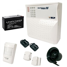 Kit Alarme AlardMax RF 4 ECP com Bateria UP1270 UNIPOWER