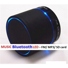Mini Caixa Som Bluetooth MUSIC WS887 - LED PRETA