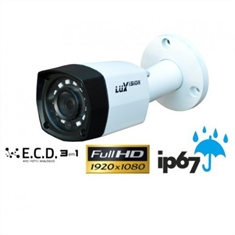 CAMERA BULLET AHD LUXVISION 2MP ECD 1/2.7 20M 3.6MM IP67 (DCRE 2017/04276-0) LVC5360B3