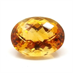 CITRINO AAA LARANJA NATURAL OVAL 18.91CT