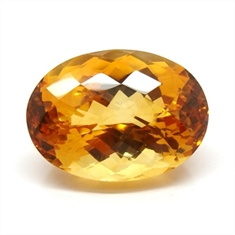 CITRINO AMARELO AAA NATURAL OVAL 28.11CT