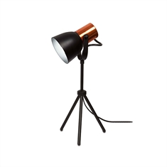 Luminaria de Mesa City 38cm, Preto - 665-1-PT-CO