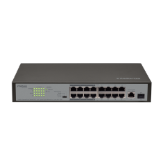 Switch 16 Portas - SF 1811 PoE - 1 Porta Gigabit e 1 Porta Mini-GBIC/SFP Intelbras