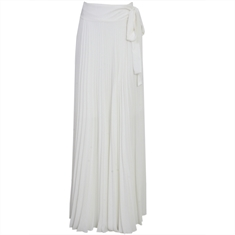 Saia Longa Plissada Donna Off-white LAFORT - 40