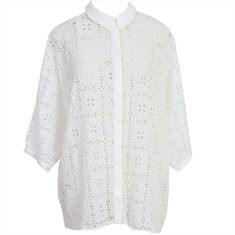 Camisa Juliana Rechilieu Off-white - M
