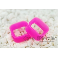 Alargador Square Silicon Pink - 22mm (Par)