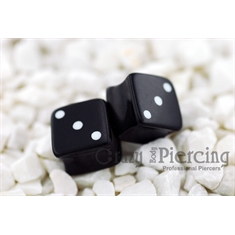 Alargador Dice black - 10mm (Par)