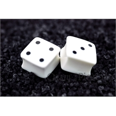 Alargador Dice White - 20mm (Par)
