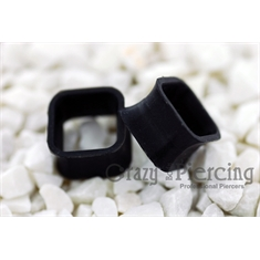 Alargador Square Silicon Black - 12mm(Par) - Medida interna