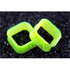 Alargador Square Silicon Lime Green - 26mm (Par)