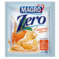 Refresco Magro Lowçucar - display 15 saches de 8g - Tangerina