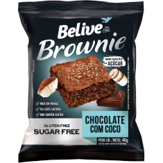 Brownie Chocolate com Coco Belive Be Free 2x40g